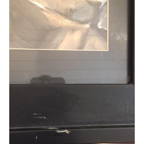 Image of Abstract Portrait of Woman Framed Painting