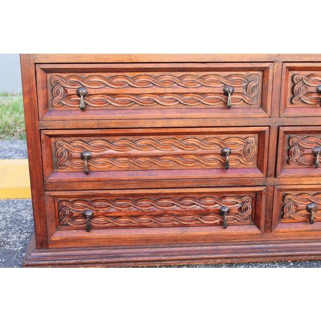 Antique Carved Spanish Boxwood Dresser - Image 5 of 11