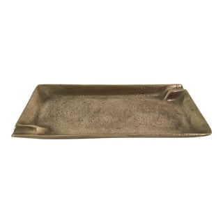 Mid-Century Brutalist Solid Brass Ashtray