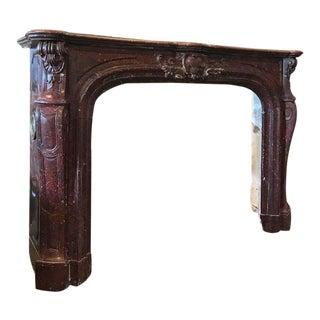 Griotte Rouge Antique Marbel Mantel, circa 1820