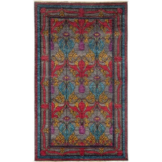 """Arts & Crafts Hand Knotted Area Rug - 4'10"""" X 8'6"""""""