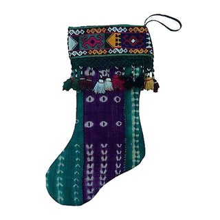Vintage African Mali Cloth Christmas Stocking