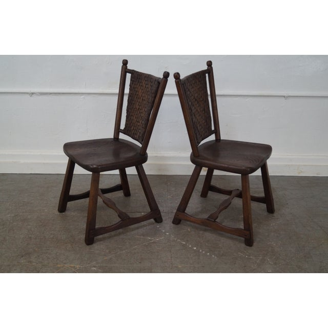 Old Hickory Antique Rustic Dining Chairs 4 Chairish