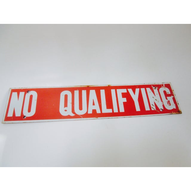 No Qualifying Sign Metal Industrial Salvage - Image 3 of 3