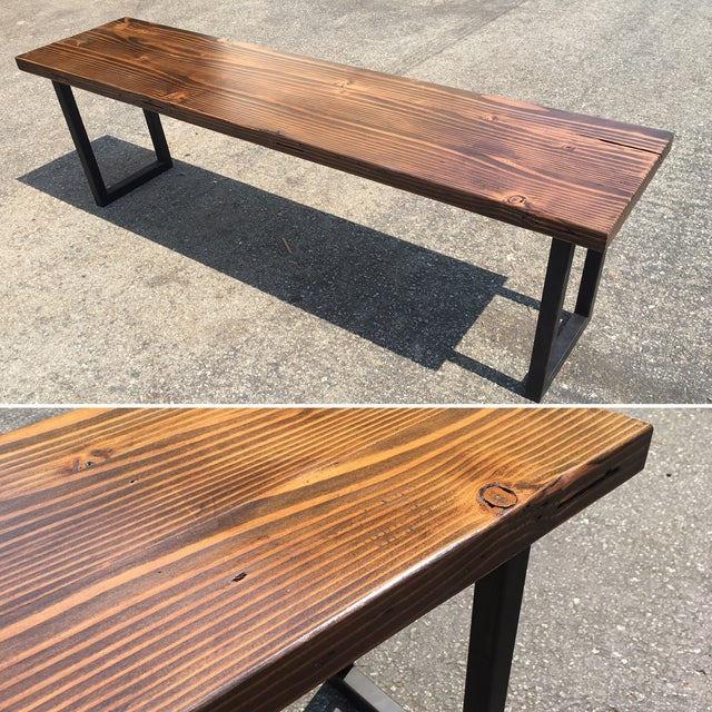 Reclaimed wood bench chairish for Reclaimed wood sources