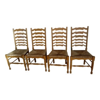 Ladderback Pine Chairs - Set of 4
