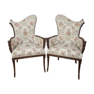 Antique 1920s Hollywood Style Chairs - A Pair