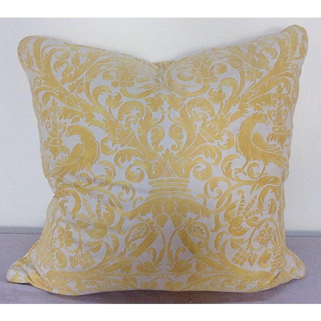 Yellow white fortuny pillow chairish - Whiten yellowed pillows ...