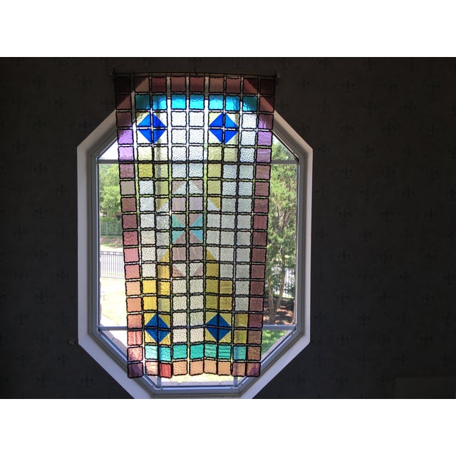 Antique French Stained Glass Window Panel - Image 4 of 6