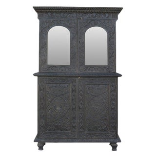 Anglo-Indian Carved Indo Portuguese Cabinet