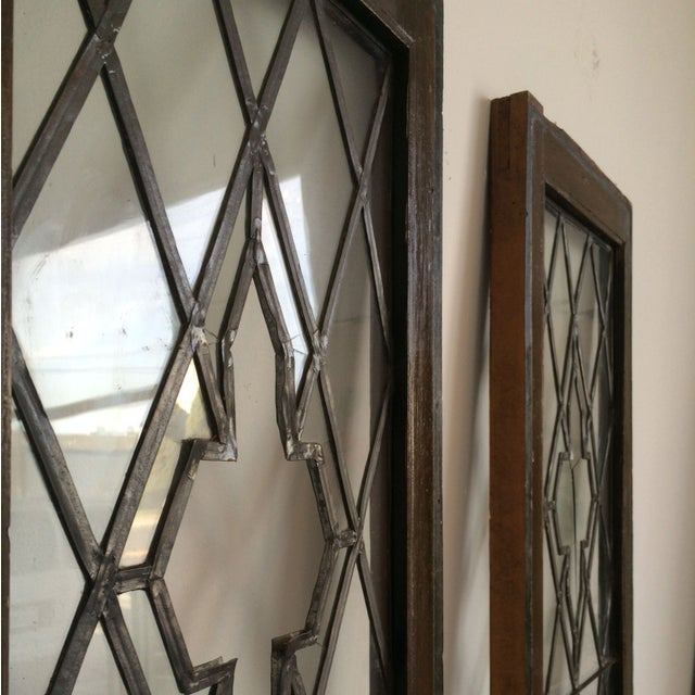 Image of Leaded Glass Side Windows - A Pair