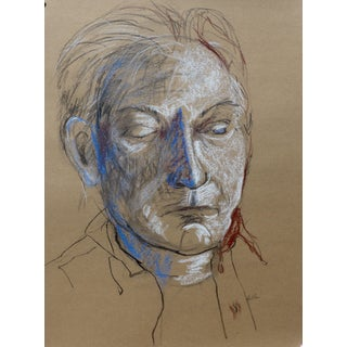 Revolutionary Man Charcoal Drawing
