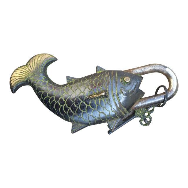 Bronze Fish Mystery Padlock - Image 1 of 3