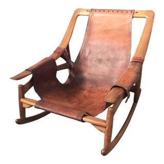 Charming Rocking Chair Attributed to Arne Tidemand Ruud
