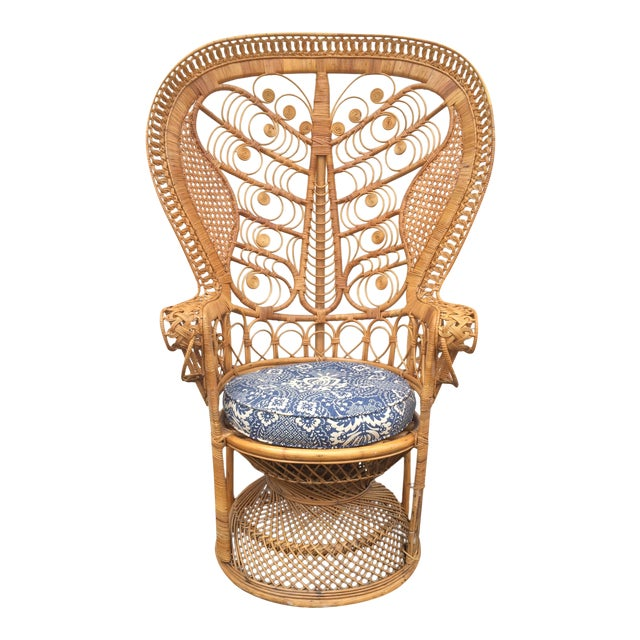 Rattan Boho Peacock Chair Chairish