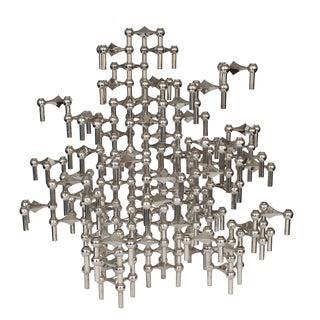 Modular Nagel Candlestick Sculpture - 87 Piece Set