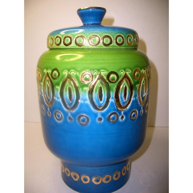 Mid Century Vase Art Pottery Bitossi Jar - Image 8 of 8