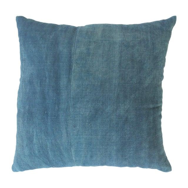 Hand Woven Blue-Indigo Hemp Pillow - Image 1 of 3