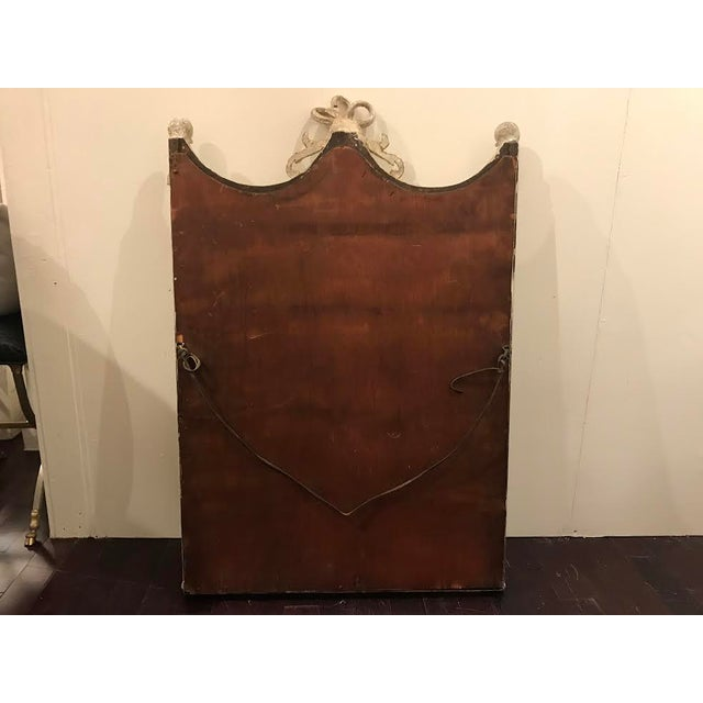19th Century French Carved Swag and Tassel Mirror - Image 6 of 7