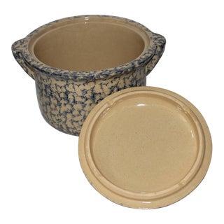 Early 20th Century Spongeware Casserole Dish