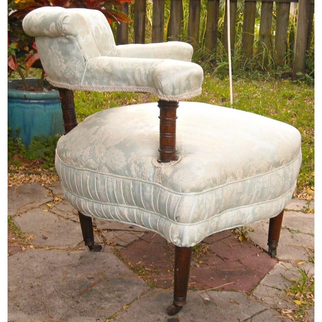 Antique Victorian Walnut Tub Chair - Image 4 of 9