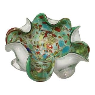 Murano Biomorphic Art Glass Bowl