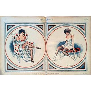 """Fabiano 1919 Le Sourire """"Brune & Blonde"""" Print"""
