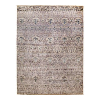 Hand Knotted Bamboo Silk Indian Rug - 9' x 12'