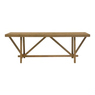 Custom Reclaimed Wood Buttress Console