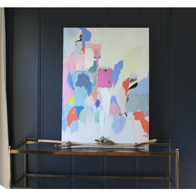 "Image of ""Pagoda"" Mixed Media Painting on Canvas"