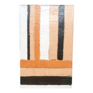 Large Format 70's Geometric Abstract Painting