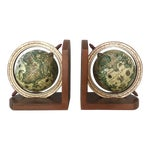 Image of Vintage Papier-Mâché Globe Bookends - A Pair