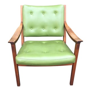 Gunlocke Green Vinyl Club Chair