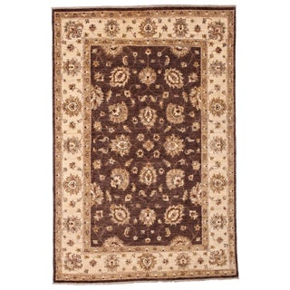 """New Oushak Hand Knotted Area Rug - 4'5"""" x 6'7"""""""