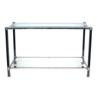 Tailored French Two-Toned Steel Console Table
