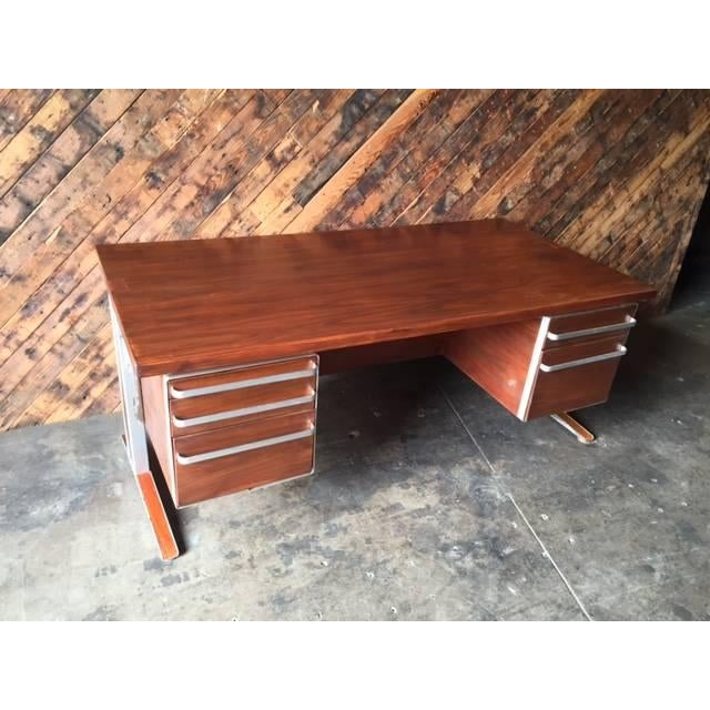 Vintage Cantilevered Executive Desk - Image 11 of 11