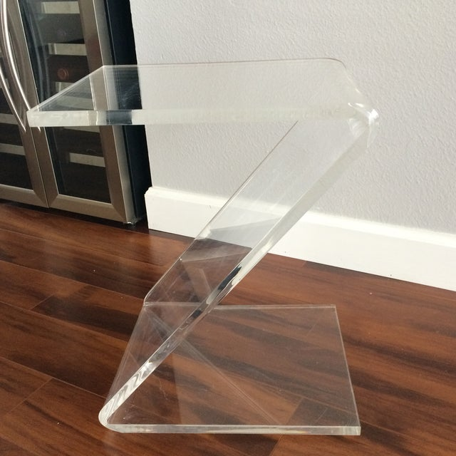 Vintage Lucite Z End Table Mascheroni Style - Image 4 of 7