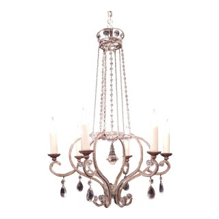 Mid 19th C Italian Crystal Bulb Shaped Chandelier