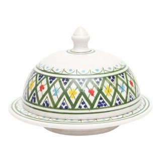 Hand Painted Moroccan Ceramic Serving Tajine