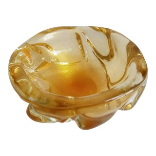 Archimede Seguso Gold Fleck Candy Dish