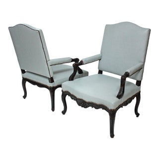 Large Pair of Regence Armchairs