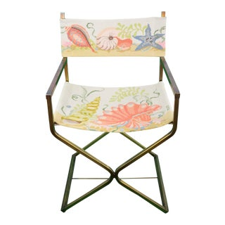 Seashell Needlepoint Director's Chair