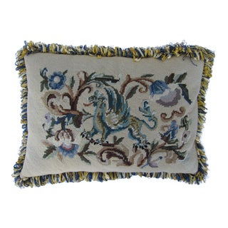 Custom Needlepoint Gryphon Pillow