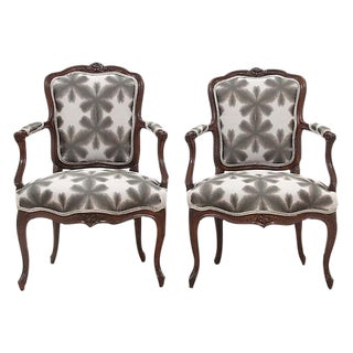 Louis XV Style Fauteuil Chairs- A Pair