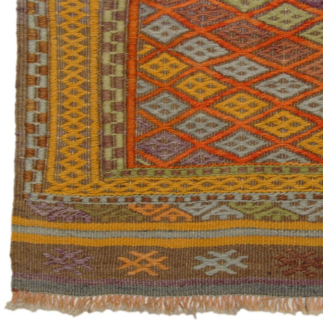 Bright & Colorful Vintage Turkish Kilim - 2'9 X 3' - Image 3 of 3
