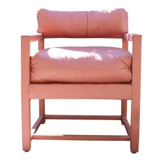 Vintage Milo Baughman Style Parsons Chair