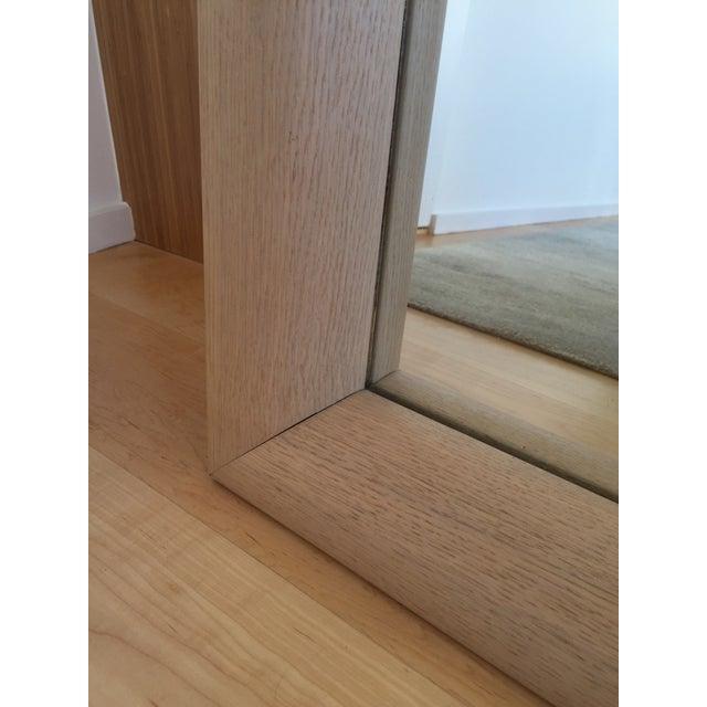 Ligne Roset Floor Standing Oak Frame Mirror - Image 7 of 9