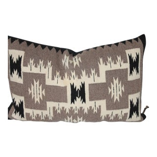 Navajo Two Grey Hills Indian Weaving Pillow