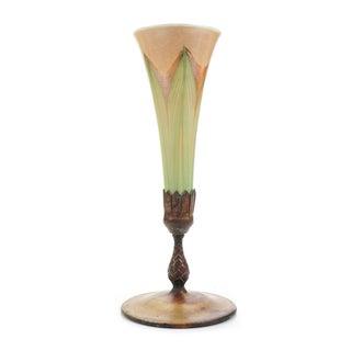 """Tiffany Studio 12"""" Favrille Glass Trumped Vase"""