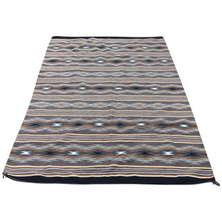 "Authentic Hand-Woven Navajo Rug - 5'1"" X 7'4"""